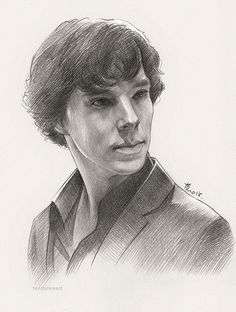 "Sherlock Sketch by feyjane."" I wish my sketches looked like this. Sherlock Holmes 3, Sherlock Holmes Benedict Cumberbatch, Benedict Sherlock, Portrait Sketches, Art Sketches, Sherlock Drawing, Marvel Drawings, Celebrity Drawings, Pencil Drawings"