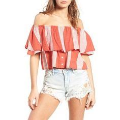 Women's Faithfull The Brand Salerno Off The Shoulder Crop Top