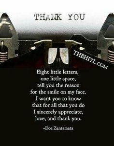 These Are Examples Of Thank You Messages And Sayings To Say And