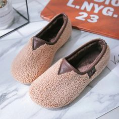 Theme:Spring/Fall,Winter Occasion:Casual Upper Material:Fleece Heel Type:Flat Heel Accents:Fur Gender:Women Style:Simple Shoes Style:Slip-On Heel Height:Low Toe Type:Round Toe Lining Material:Fur Casual Loafers, Casual Heels, Women's Loafers, Leather Loafers, Fall Booties, Style Simple, Snow Boots Women, Comfortable Flats, Vintage Boots