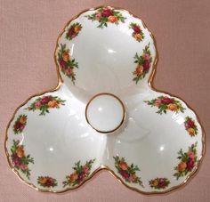 Royal Albert Old Country Roses Triple Dish