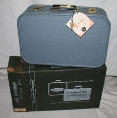 Vintage Overnight Fashion Luggage by by ilovevintagestuff on Etsy