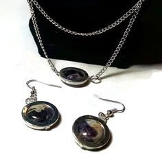 Purple Charoite Earrings and Stackable Draping Necklace by atiltKC #HEPteam