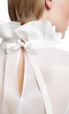 PLAKINGER White Silk Organza Blouse