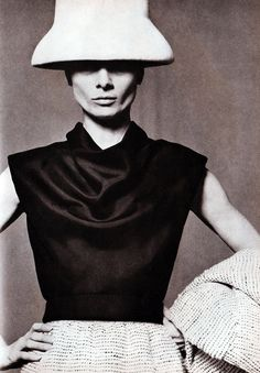Audrey Hepburn photographed by Bert Stern for Vogue, 1963. Dressed in Givenchy.