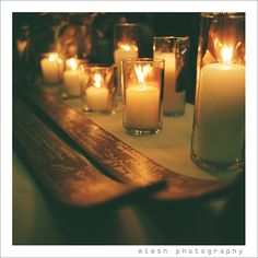 Signed skies and candles - Allison and Tom a winter wedding photographed by Miesh Photography