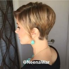 Haircut styles Haircut styles # Haircut styles # Haircut styles # for # long # hair Funky Short Hair, Short Blonde Bobs, Short Hair With Layers, Medium Hair Cuts, Short Hair Cuts, Short Hair Styles, Short Bob Hairstyles, Cool Hairstyles, Shoulder Haircut
