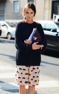 that skirt. that jumper.