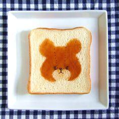 honey bear decoration toast