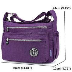 d6359a77b1c4 Jinqiaoer Nylon Waterproof Lightweight Crossbody Bag Shoulder Bag Portable  Travel Bag For Women Travel Bags For