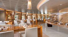 Modern American Style Restaurant Interior Design of Cafe Nikki, Las Vegas Dining Area