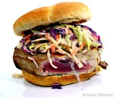 Dinosaur BBQ Coleslaw by mykitchenmoovement: Try it on grilled ahi!  #Coleslaw #Dinosuar_BBQ #Ahi