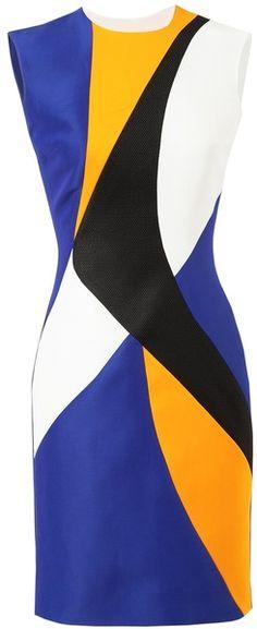 roksanda ilincic Colourblocked Panelled Dress - Lyst