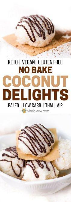 No Bake Coconut Cookies - low carb, keto, sugar free, gluten free, dairy free, THM, vegan
