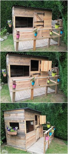 Having such concept cabin deck artwork in your house will surely make your whole house atmosphere unique and favorable attractive looking. The complete creation of cabin with deck has been fantastically done with the wood pallet use in it. It is shaped in hut style that can act upon as the playhouse for your kids in summer vacations.