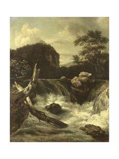 A Waterfall (Cascade) Kunsttryk