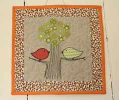machine-stitched tree - for Heather