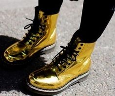 I dont know if I could pull these off but I'd really love to! Metallic Gold Doc Martens