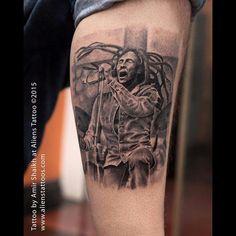 Bob marley tattoo by : amir shaikh