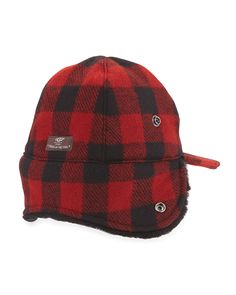 McLain Buffalo Plaid Trapper Hat w/Shearling Trapper Hats, Buffalo Plaid, Fur Trim, Ugg Australia, Cotton Spandex, Sheep, Uggs, Beanie, Wool