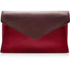 Valentino Absolute Textured Leather Clutch ($675) ❤ liked on Polyvore featuring bags, handbags, clutches, purses, bolsas, red multi, valentino handbag, red handbags, valentino purses and red purse