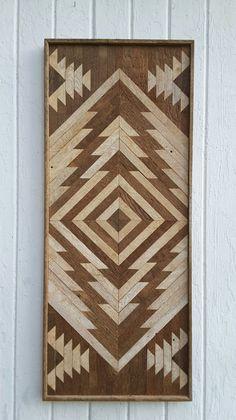 Recuperado arte de pared de madera doble cabezal por PastReclaimed