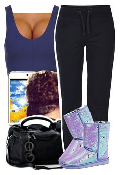 """""""Time"""" by kiaratee ❤ liked on Polyvore featuring Topshop, ONLY and UGG Australia"""