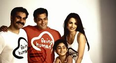 Salman Khan with his family promoting Being Human