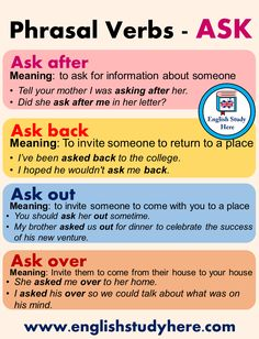 English Phrasal Verbs with ASK, Definitions and Examples - English Study Here