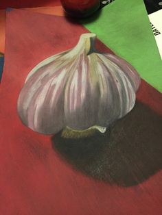 Pastel & charcoal garlic, one of my drawings