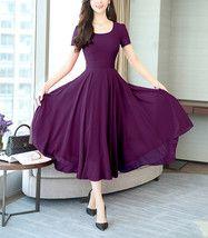 Round Neck Plain Maxi Dress - Purple Dresses - Ideas of Purple Dresses Women's Fashion Dresses, Sexy Dresses, Cute Dresses, Awesome Dresses, Bride Dresses, Wedding Dresses, Short Beach Dresses, Dress Silhouette, Buy Dress