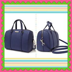 """Authentic Kate Spade Leather Handbag  % AUTHENTIC ✨ Beautiful mini Cassie leather handbag from Kate Spade  Very versatile ✨ Crossbody, shoulder & top handle bag  Lightweight & spacious! Length 9"""" Height 7"""" Width 5"""" with adjustable detachable long strap  Color: FRENCHNAVY with yellow gold tone hardware  Dust bag included  NO TRADE PRICE FIRM kate spade Bags"""