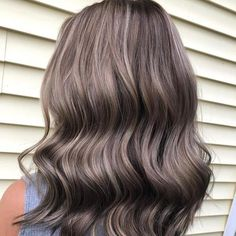 Ash Blonde Hair With Highlights, Ash Blonde Hair Balayage, Dark Ash Blonde Hair, Ash Brown Hair Color, Ash Grey Hair, Grey Blonde, Brownish Blonde Hair Color, Ash Brown Bayalage, Brown To Grey Ombre