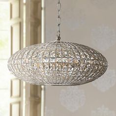 This gorgeous chandelier features geometric crystals hand-cut with utmost precision for faceted illumination. wide x 14 high x canopy is 5 wide, high x hanging weight is 21 lbs. Style # at Lamps Plus. Silver Chandelier, Glass Chandelier, Chandelier Lighting, Contemporary Chandelier, Interior Lighting, Modern Decor, Light Up, Antique Silver, Ceiling Lights