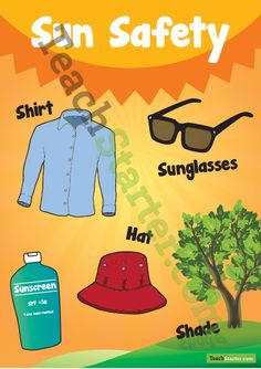 Sun Safety Poster. I chose this poster because it explains clearly what you should do to keep yourself safe in the sun.