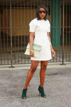 DIY Little white neoprene dress