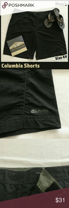 "🆕 Men's Columbia Sportswear Black Shorts These light nylon shorts from Columbia Sportswear are in EUC and will quickly become your favorite summer shorts!  They have velcro closures at both the waist and back pockets.   Inseam measurement: 12""   From a smoke-free and happy-to-bundle closet.   The Abercrombie & Fitch flip-flops are available in a separate listing.    No trades or transactions outside of Poshmark.  [T290] Columbia Shorts"