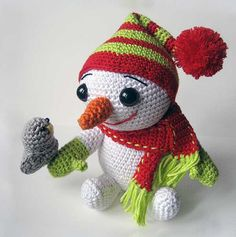 Download The Snowman And The Bird Amigurumi Pattern (FREE)