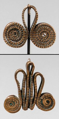 Africa |  Two pendants from the Sidamo people of Ethiopia | Copper | 20th century | Est. 1,000/1,500$ for both