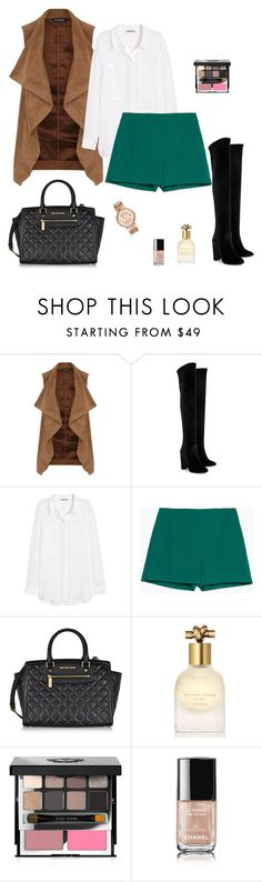 """Untitled #305"" by micha-p ❤ liked on Polyvore featuring Dorothy Perkins, Aquazzura, H&M, Zara, Michael Kors, Bottega Veneta, Bobbi Brown Cosmetics and Chanel"