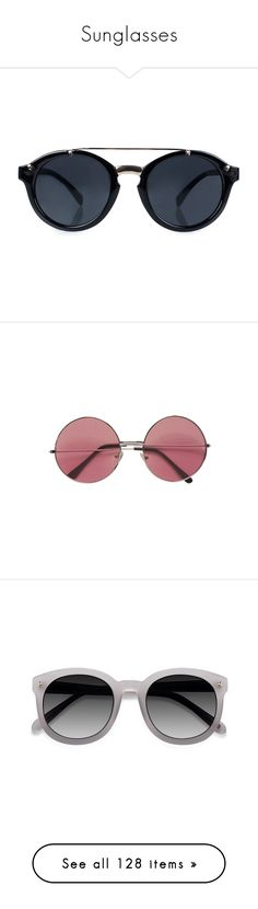 """""""Sunglasses"""" by dianasf ❤ liked on Polyvore featuring accessories, eyewear, sunglasses, river island, river island sunglasses, glasses, fillers, round glasses, rounded sunglasses and vintage eyewear"""