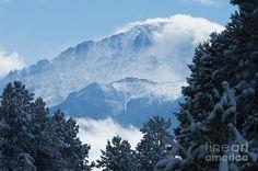 Image detail for -Colorado Rocky Mountains Photograph - Snow on Pikes Peak - Colorado ...