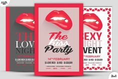 LOVE SEXY LIPS Flyer Template by tes on @creativemarket