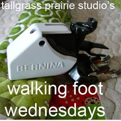 Tallgrass Prairie Studio: Walking Foot Wednesdays. Excellent tips on how to use your walking foot for quilting