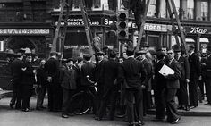 Embedded image permalink  The 1st of many Traffic lights being installed, Ludgate Circus 1931.