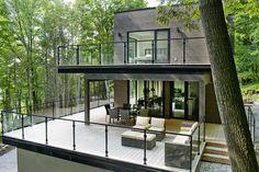 Cовременный коттедж недалеко от озера Шамплейн | Про дизайн|Сайт о дизайне интерьера, архитектура, красивые интерьеры, декор, стилевые направления в интерьере, интересные идеи и хэндмейд
