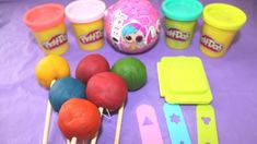6 Lollipop Ice Cream Play Doh Learn Colours Numbers for Kids Toddlers Ch.