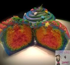 Rainbow Cupcakes with Unicorn Poop Frosting - Searching 4 Savings