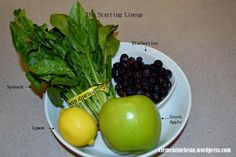 Juice Recipe: Blueberry, Spinach, Green Apple and Lemon. A green juice that doesn't taste like a green juice. Jamba Juice Recipes, Best Juicing Recipes, Green Juice Recipes, Juicer Recipes, Smoothie Recipes, Salad Recipes, Avocado Juice, Spinach Juice, Veggie Juice