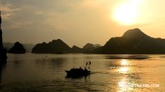 Halong Bay in early sunlight